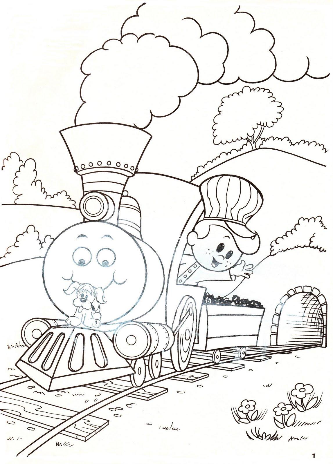Trenes para colorear - Dibujos para Colorear y Pintar Gratis