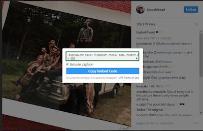 Cara Embed Foto Instagram Responsive di Blog