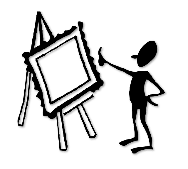Silhouette of A Man Painting, Silhoutte, Free Clipart