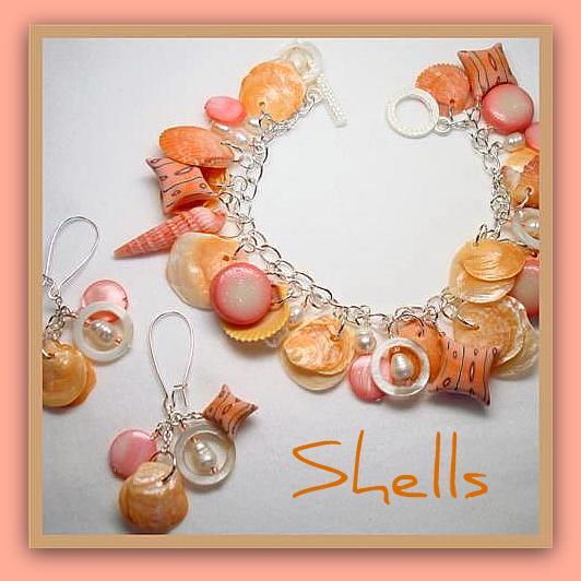 Polymer Clay Charm Bracelet: Beadazzle Me Polymer Jewelry: Polymer Clay Florida Sea