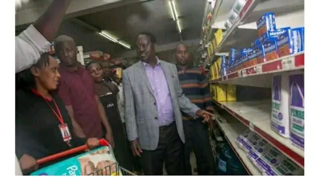 raila odinga uchumi supermarket