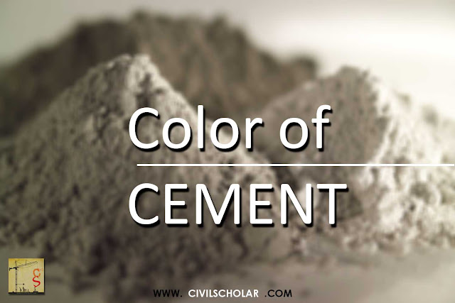 why cement color