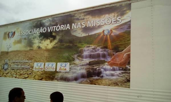 Caminhão da Associação Vitoria nas missões