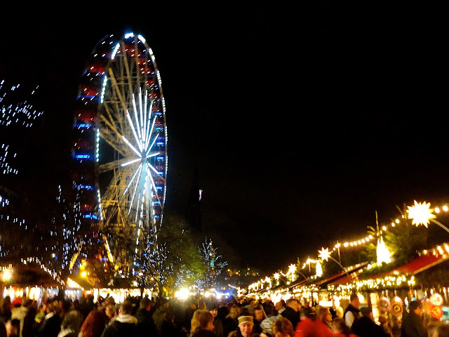 Christmas Winter Wonderland at night, Edinburgh