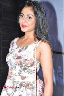 Actress Madhu Shalini Stills in Floral Short Dress at RGV Shiva to Vangaveeti Event  0083.JPG