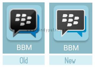Icon BBM yang berubah BBM v2.9.0.44