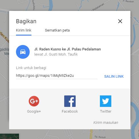 Link penyematan Peta - Catatan Nizwar ID