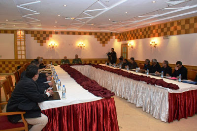 اجتماع مع ممثلي أفراد الخدمة الوطنية المعاد استدعاؤهم في إطار التعبئة