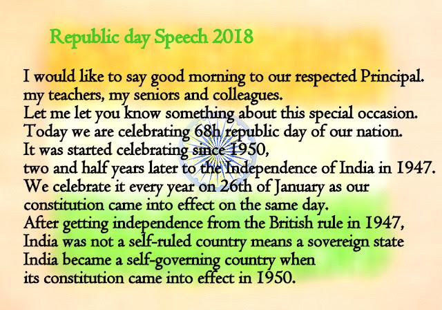 Happy Republic Day Speech In English