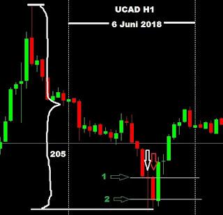membuat jurnal catatan trader belajar hasil trading investasi saham forex indonesia pair UCAD formasi candle pin bar