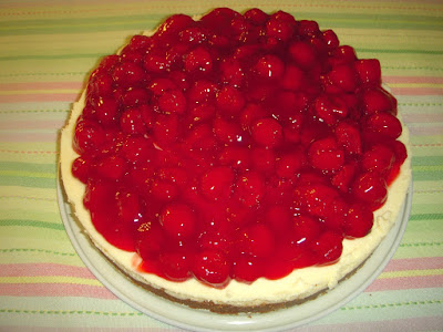 Margaret's Morsels   Sour Cream Cherry Cheesecake