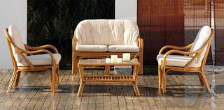 Conjunto Sillones Sofa y Mesa Rattan Brabar