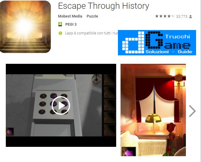 Soluzioni Escape Through History  di tutti i livelli | Walkthrough guide