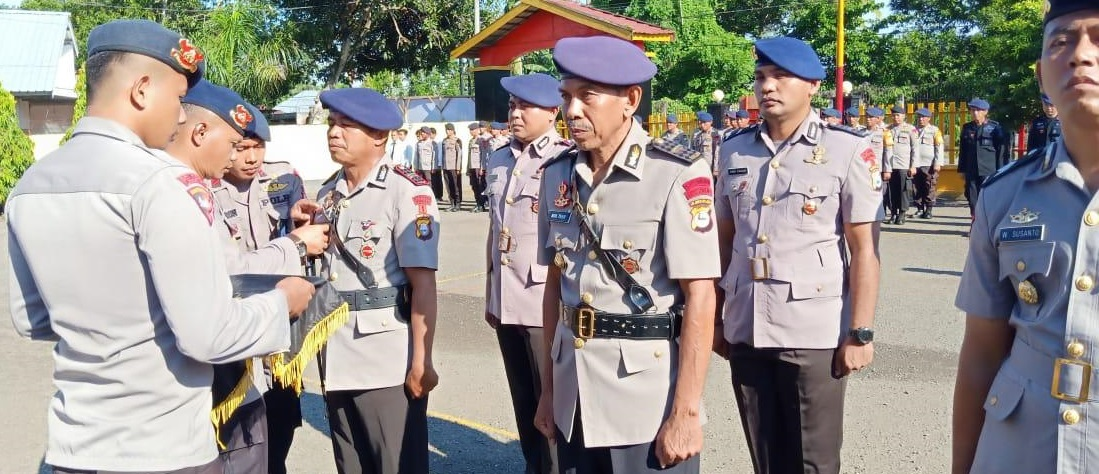 Danyon C Pelopor Sat Brimob Polda Sulsel Pimpin Sertijab dan Pelantikan Jabatan di Jajarannya