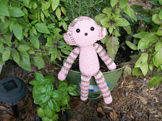 Plush Monkey in Pink