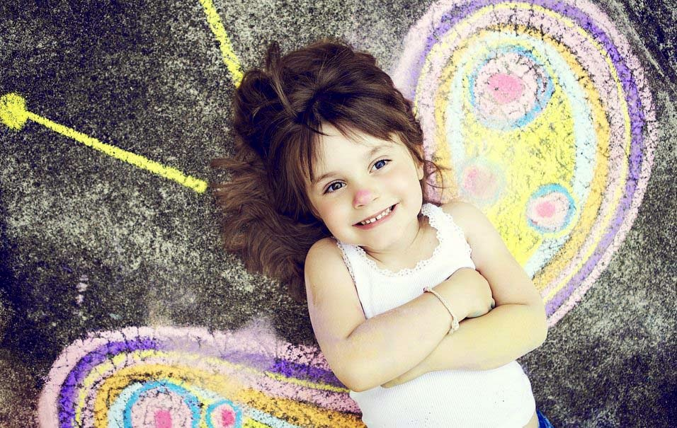 smile-kız bebek-çocuk-çizim