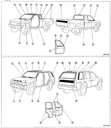 1999 Nissan Pathfinder Parts Diagram Belts. Nissan. Auto