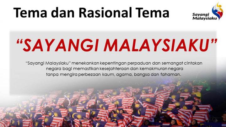 Tema Hari Kebangsaan 61 iaitu Sayangi Malaysiaku - Hari Merdeka 2018