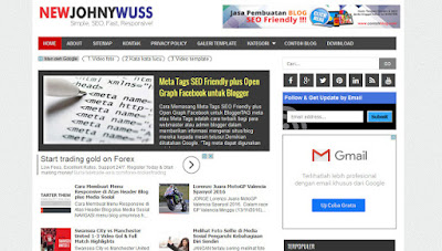 Download Gratis Template Johny Wusss Responsive Versi 1, Versi 2 dan Versi 3