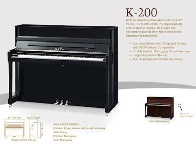 Đàn piano kawai k-200 hiện nay giá bao nhiêu