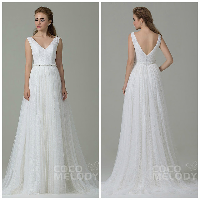 http://www.cocomelody.com/perfect-sheath-column-v-neck-natural-train-tulle-ivory-sleeveless-open-back-wedding-dress-with-sashes-cwat15002.html