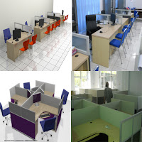 Contoh Desain Meja Sekat Kantor - Cubicle Workstation - Furniture Semarang