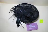 ausgepackt: Valdler Damen Fascinator Hut Mini-Hut Feder Ineinander greifen Netz Fasching Haarschmuck