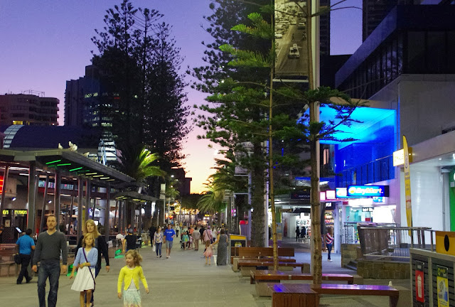 the main street in surfers paradise