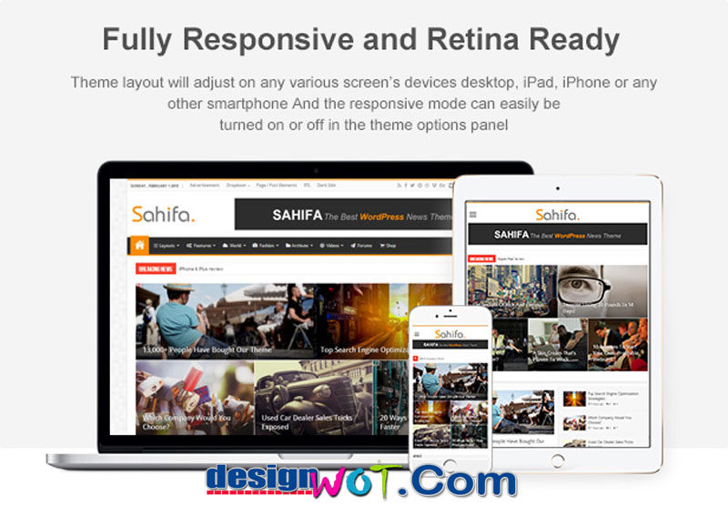 Sahifa - Responsive WordPress