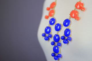 Red and blue bubble gem necklaces