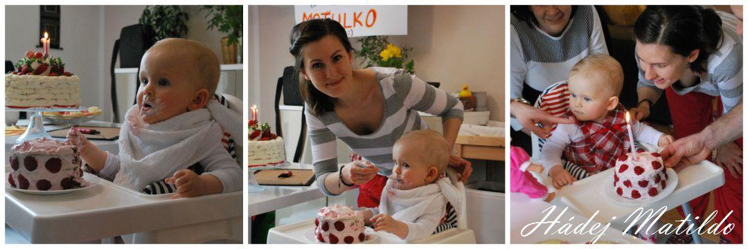 první narozeniny, oslava prvních narozenin, roční miminko