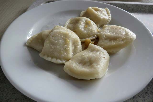 Russian Perogies at Bambino Bar milk bar in Warsaw, Poland
