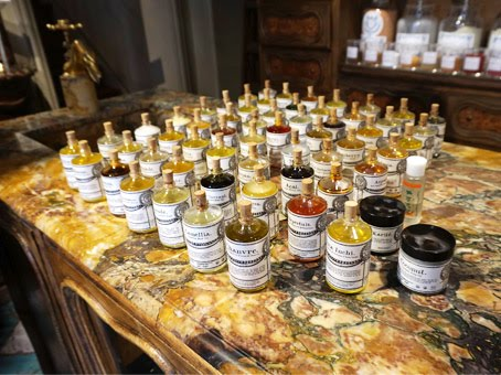 Oil and balms from an apothecary house