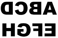 Resultado de imagen para letras al reves abecedario