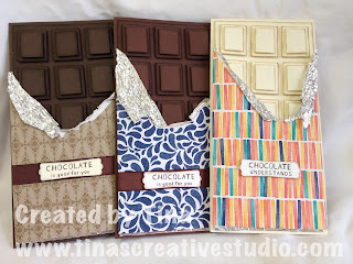 3 chocolate block cards