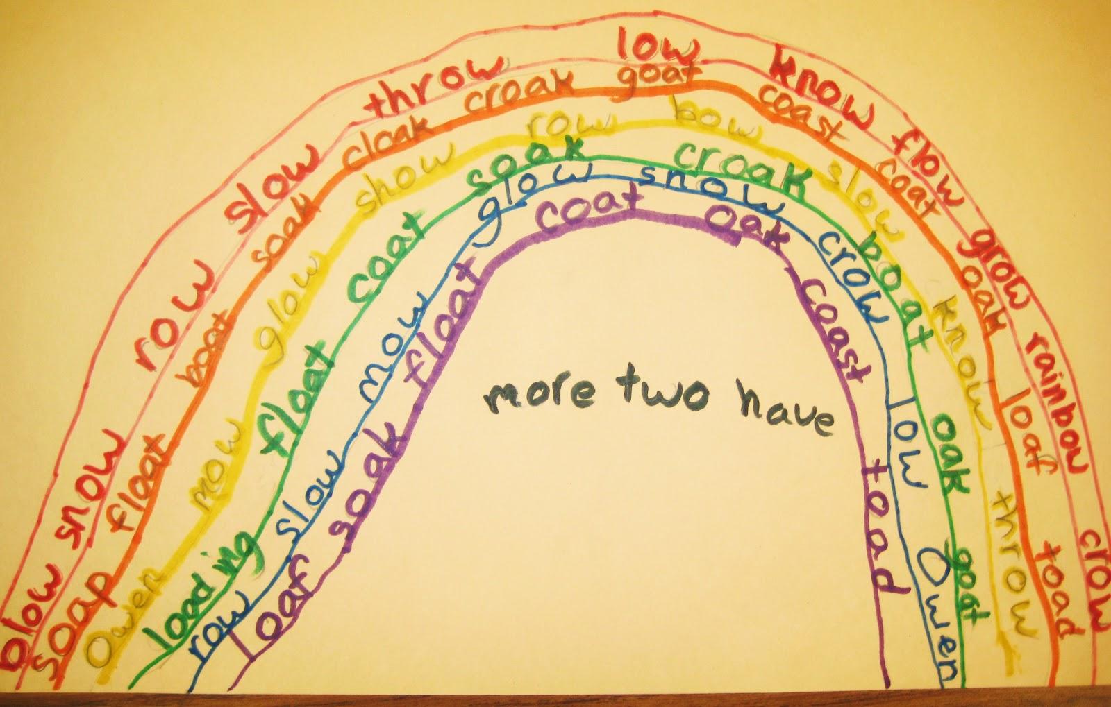 First Grade Wow Rainbow Words