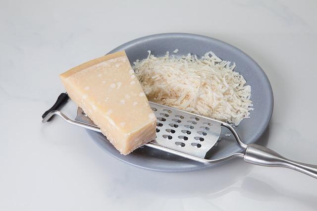 Parmesan Cheese, Grater, and Grated Cheese