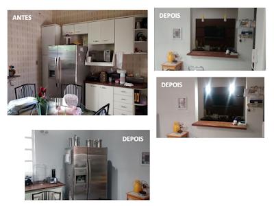 Antes e depois - projeto DIY com contact