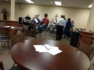 worship team practicing