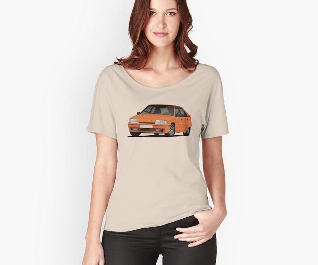 Vintage Citroen BX GTi t-shirts