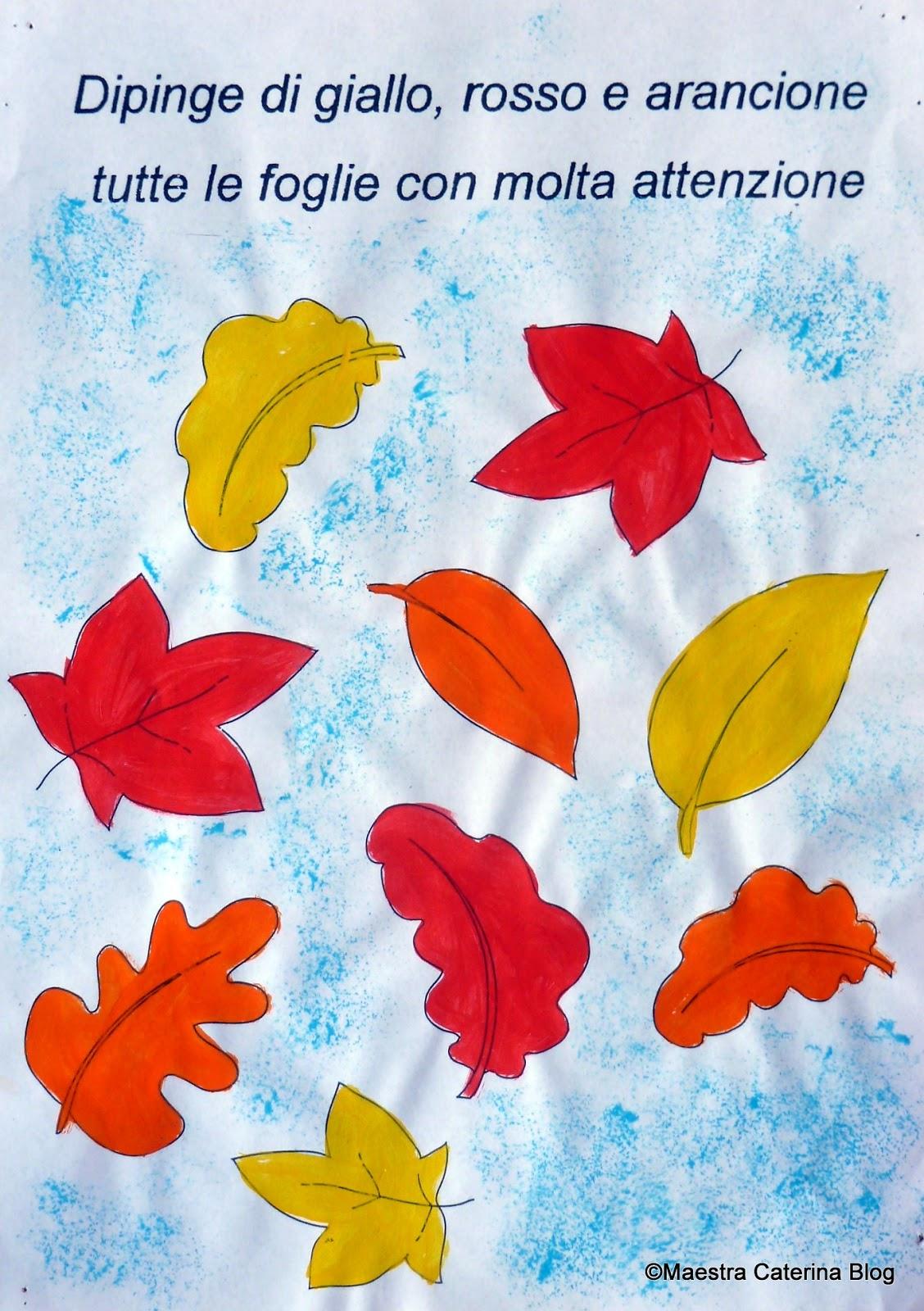 Maestra caterina il folletto dell 39 autunno - Modello di foglia per bambini ...