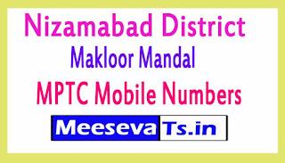 Makloor Mandal MPTC Mobile Numbers List Nizamabad District in Telangana State