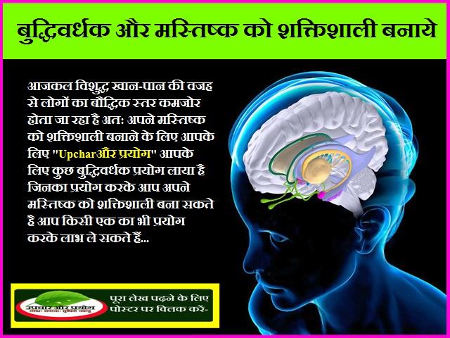 बुद्धिवर्धक और मस्तिष्क को शक्तिशाली बनाये