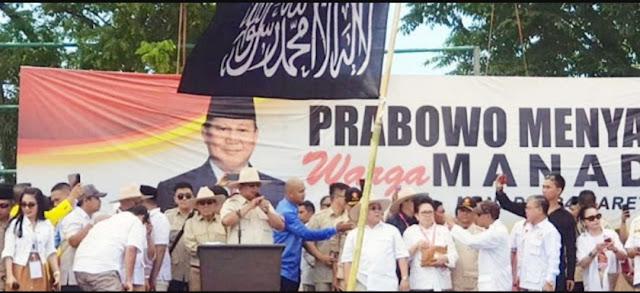 Bendera HTI Berkibar di Kampanye 02, Begini Gaya Ngeles Kubu Prabowo