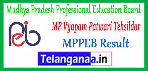 MP Madhya Pradesh Vyapam Patwari Expected Cutoff 2017 Nayab Tehsildar Merit List Result