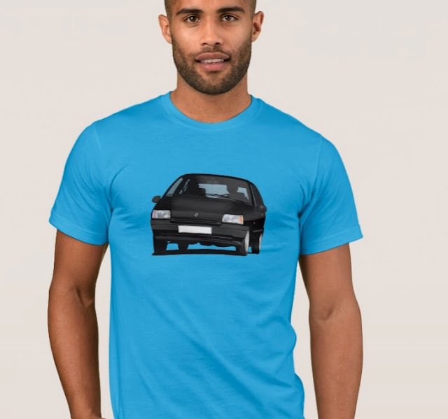Zazzle 90's Renault Clio illustration t-shirts