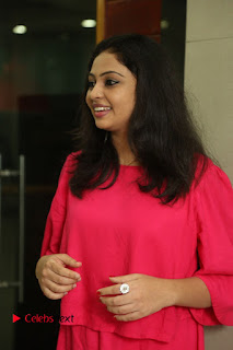Actress Arundathi Nair Stills in Red Chididar at Bethaludu Success Meet  0012.JPG