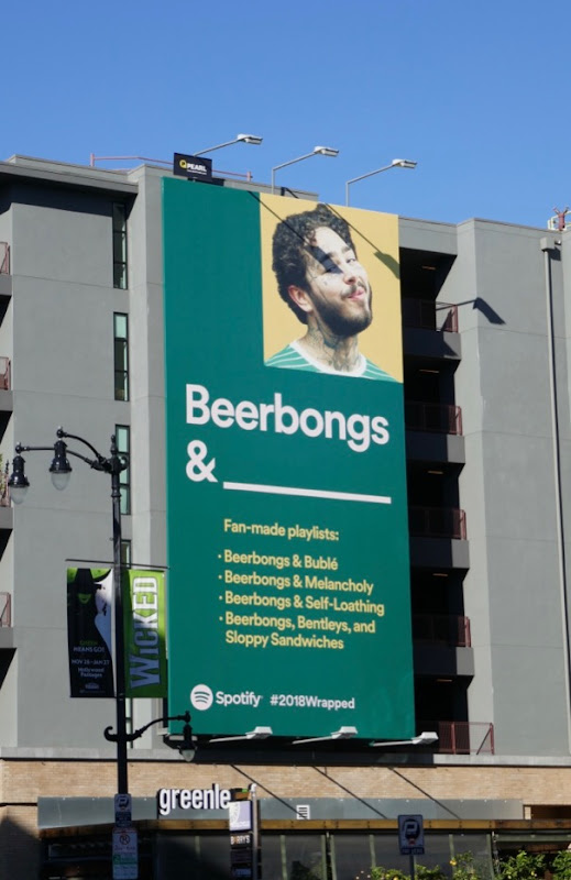 Beerbongs Spotify 2018 wrapped billboard