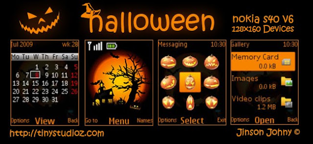 Halloween theme for Nokia C1-01/C1-02/C2-00/2690 and other Nokia S40 128X160 Devices