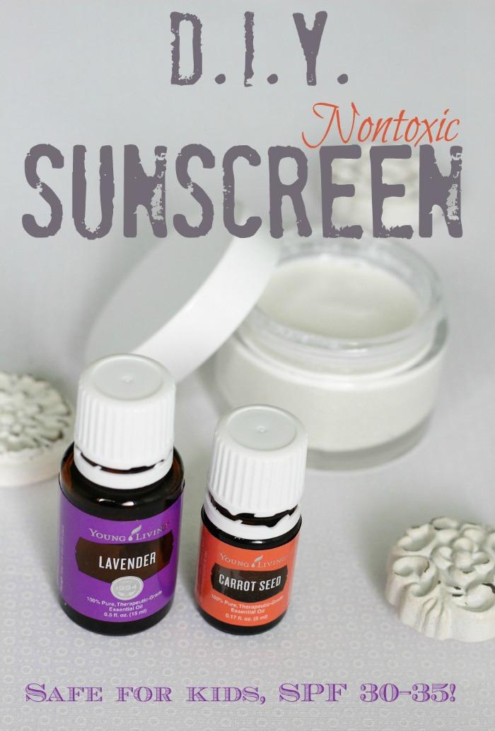 Easy, chemical free nontoxic DIY sunscreen